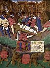 Jean Fouquet The Martyrdom of St Apollonia painting