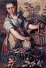 Joachim Beuckelaer Vegetable Seller painting