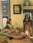 John Frederick Lewis Life in the Hareem, Cairo painting