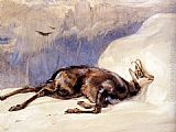John Frederick Lewis The Chamois, Sketched In The Tyrol painting