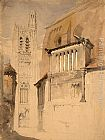 John Ruskin Tower of the Cathedral at Sens painting