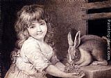 John Russell The Favourite Rabbit painting