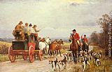 John Sanderson Wells A Hunt Passing a Coach painting