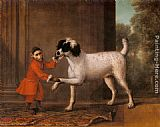 John Wootton A Favorite Poodle And Monkey Belonging To Thomas Osborne, The 4th Duke of Leeds painting
