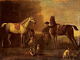 John Wootton Before The Hunt painting