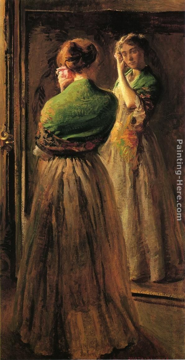 Joseph Rodefer de Camp Girl with a Green Shawl