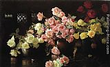 Joseph Rodefer de Camp Roses painting