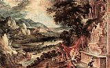 Kerstiaen De Keuninck The Elder Landscape with Acteon and Diana painting