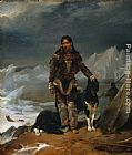 Leon Cogniet A Woman from the Land of Eskimos painting