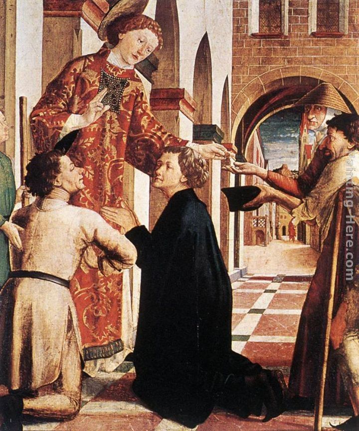 Michael Pacher St Lawrence Distributing the Alms