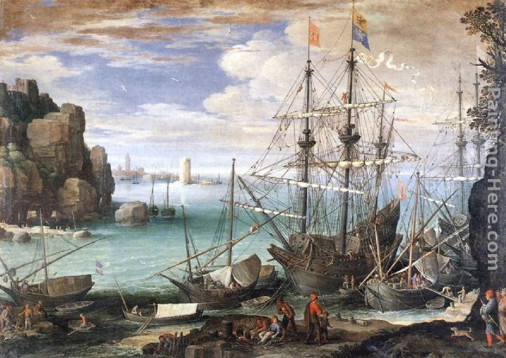 Paul Bril View of a Port