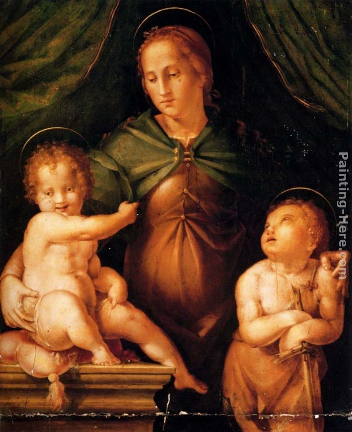 Pier Francesco Di Jacopo Foschi The Madonna and Child with the infant Saint John the Baptist