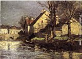 Theodore Clement Steele Canal, Schlessheim painting