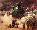 Theodore Clement Steele Flower Mart painting