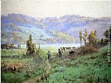 Theodore Clement Steele In the Whitewater Valley near Metamora painting