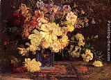 Theodore Clement Steele Still Life with Peonies painting