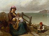 by the seaside Canvas Prints - Mother and Child by the Seaside