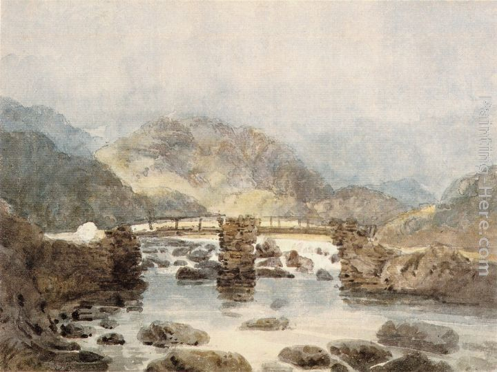 Thomas Girtin Bridge near Beddgelert (Snowdonia)