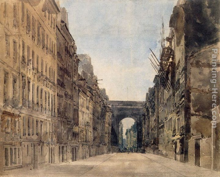Thomas Girtin Paris Rue St Denis