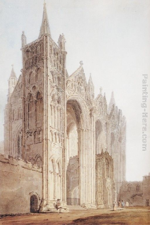 Thomas Girtin The West Front of Peterborough Cathedral