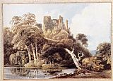 Thomas Girtin Berry Pomeroy Castle, Devon painting