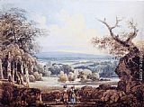 Thomas Girtin Distant View of Arundel Castle painting