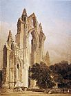 Thomas Girtin Guisborough Priory, Yorkshire painting