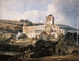 Thomas Girtin Jedburgh Abbey from the South-East painting
