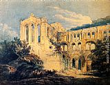 Thomas Girtin Rievaulx Abbey, Yorkshire (detail) painting
