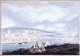 Thomas Girtin Rochester, Kent, from the North painting