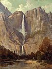 Thomas Hill Bridle Veil Fall, Yosemite painting