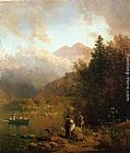 Thomas Hill Fishing Party in the Mountains painting
