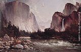 Thomas Hill Fishing on the Merced River painting