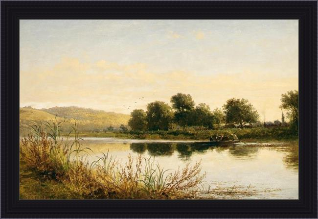 Framed Benjamin Williams Leader streatley-on-thames painting