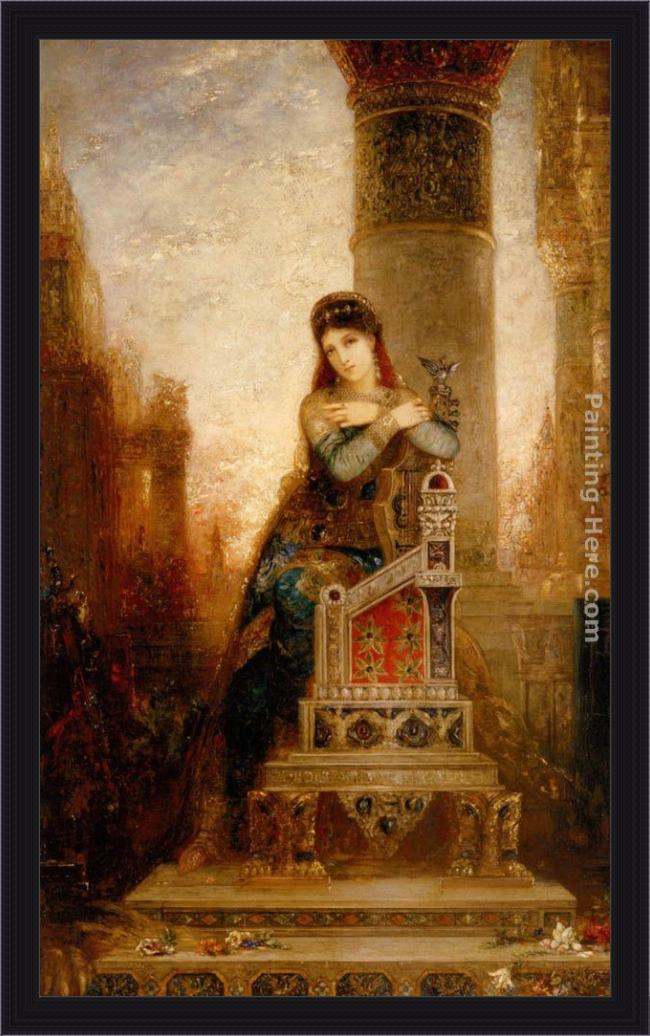 Framed Gustave Moreau desdemone painting