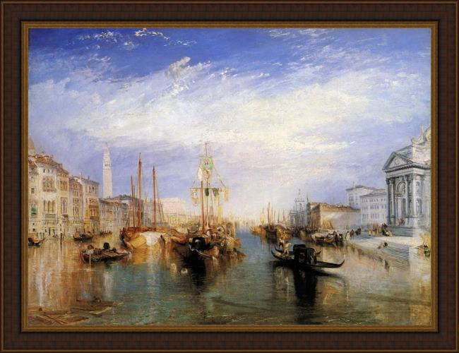 Framed Joseph Mallord William Turner the grand canal venice painting