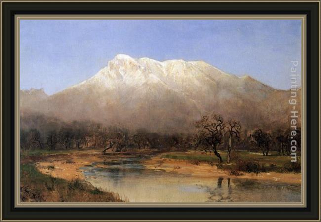 Framed Thomas Hill mount st. helena, napa valley painting