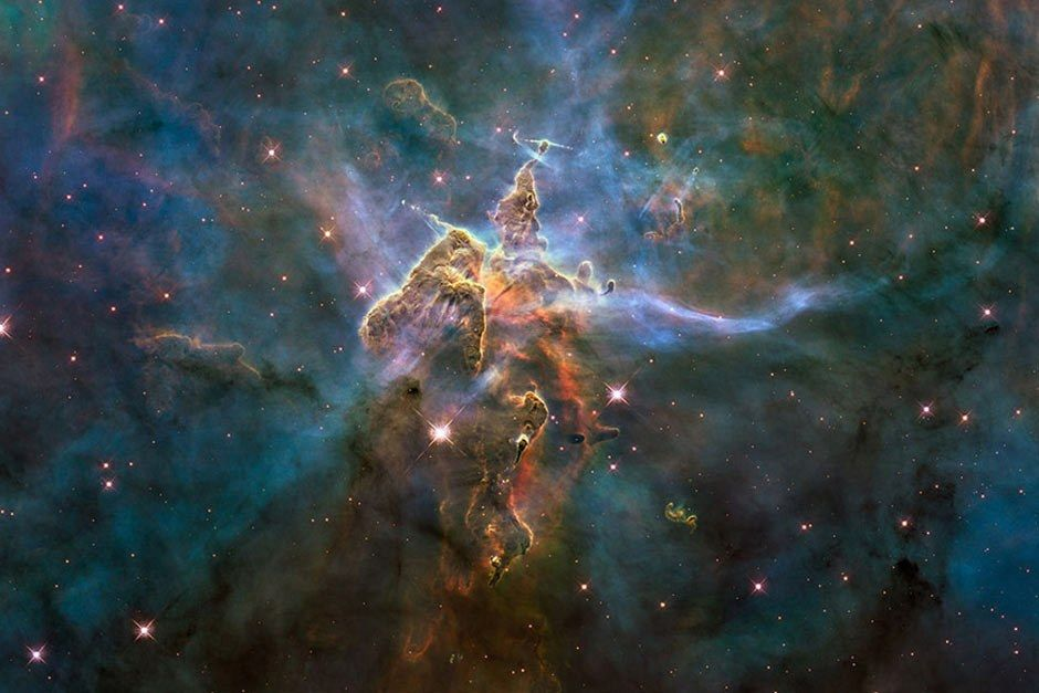 2010 Hubble pillar and jets - 20 Years of Awe
