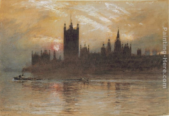 Albert Goodwin In the Smoke of His Burning