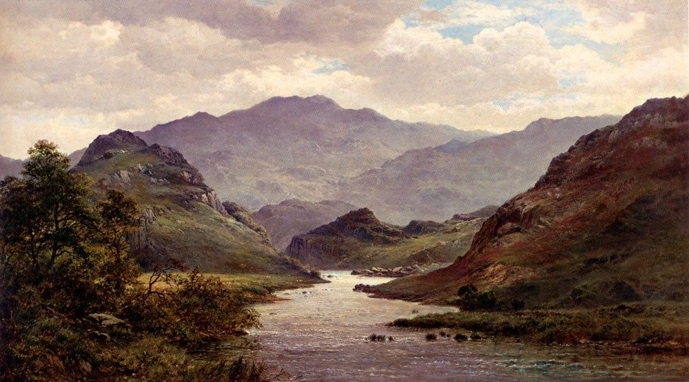 Alfred de Breanski The River Colwyn, North Wales
