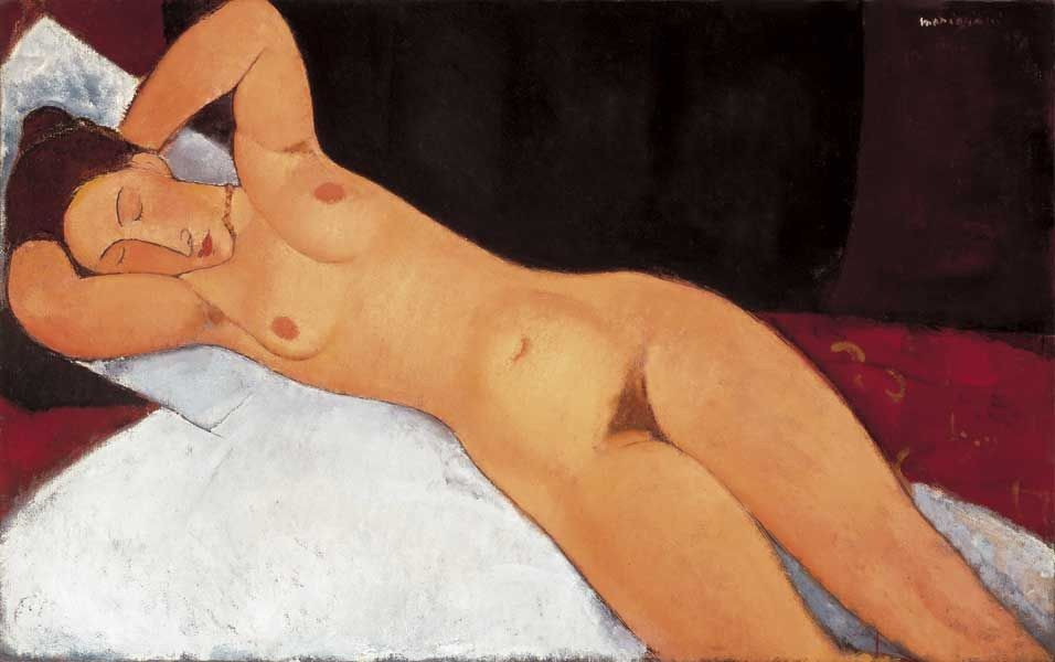 Amedeo Modigliani Nude with Necklace