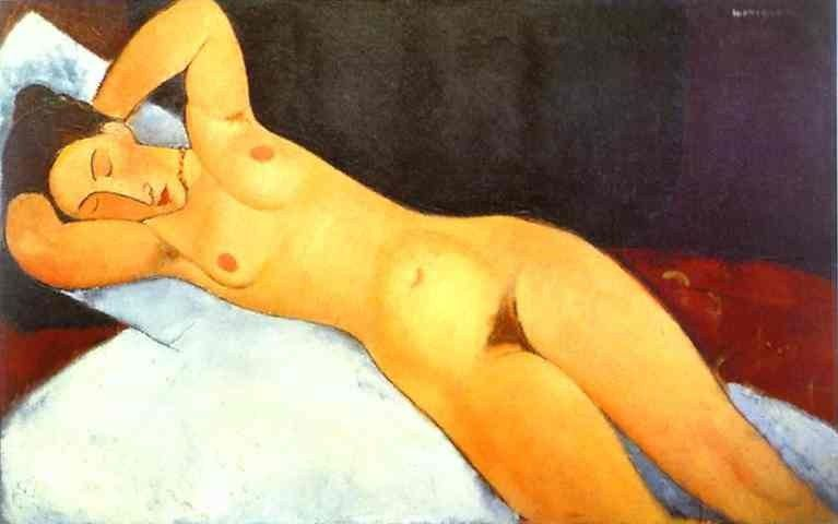 Amedeo Modigliani Nude with a Necklace