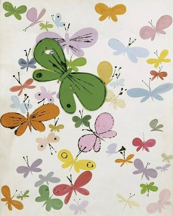 Andy Warhol Butterflies big green in middle