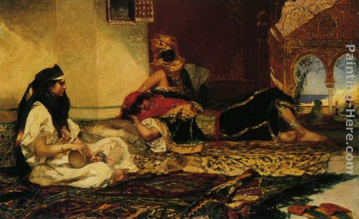 Benjamin Jean Joseph Constant In the Harem