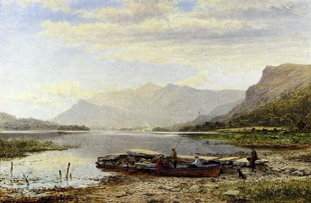 Benjamin Williams Leader Derwentwater From Ladore Morning With Skiddaw In The Distance