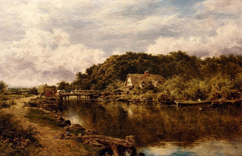 Benjamin Williams Leader On The Stour Near Flatford Mill, Suffolk