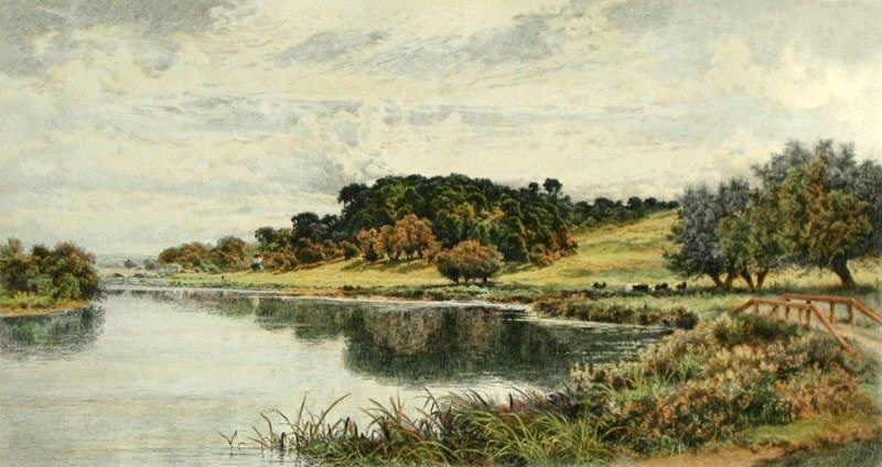 Benjamin Williams Leader Wooded Banks of the Thames