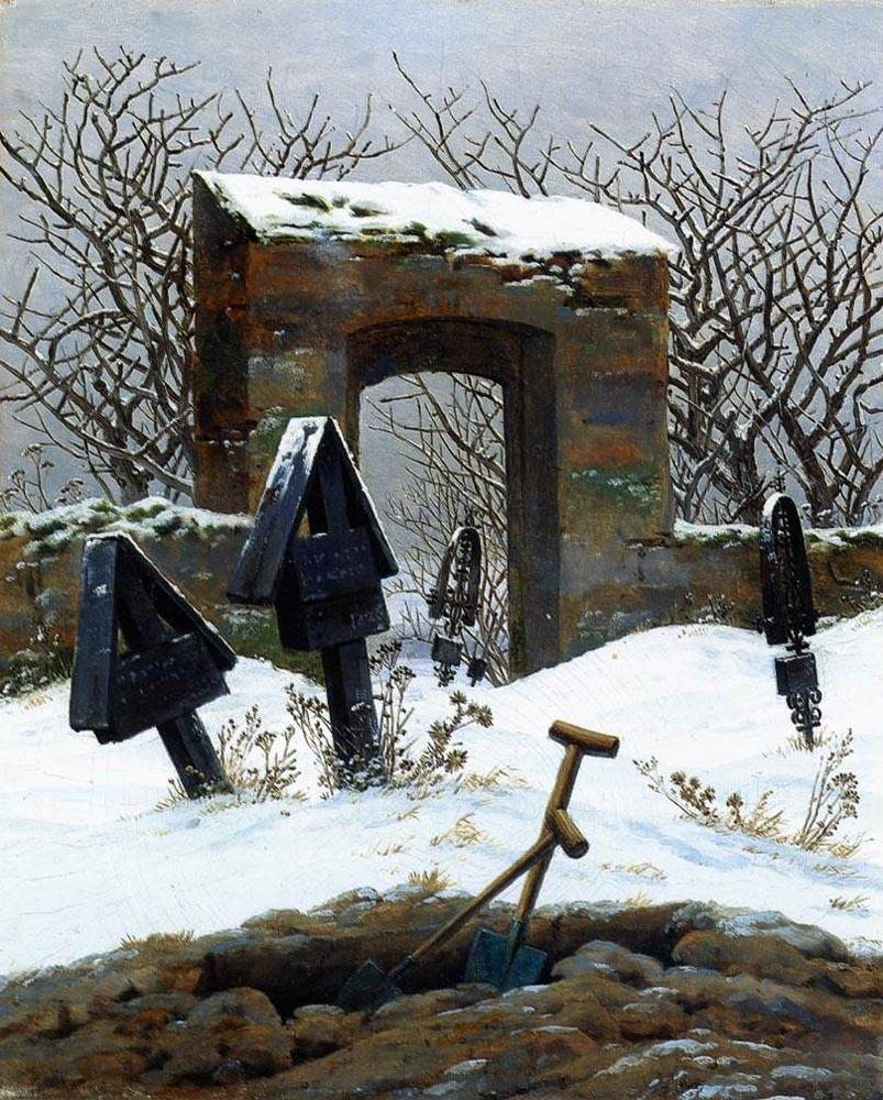 Caspar David Friedrich eyard under Snow