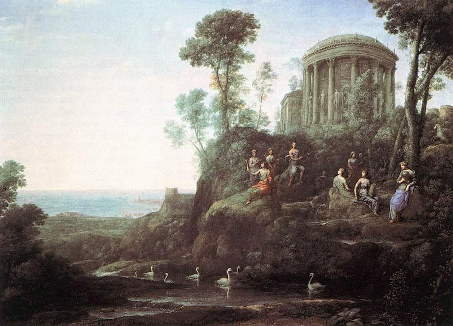 Claude Lorrain Apollo and the Muses on Mount Helion