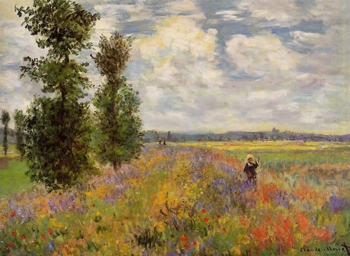 Claude Monet Poppy Field Argenteuil